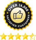 over 26,000 satisfied customers