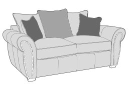 Buoyant 2 Seater Sofa Pillow Back