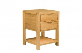 Ercol Bosco Bedroom Two Drawer Bedside Cabinet [1368]