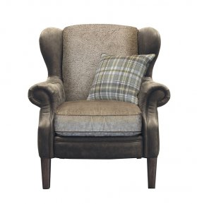 Alexander & James Hudson Wing Chair (Fabric Pack - Option 5)