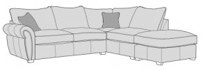 Buoyant Flair Corner Sofa Standard Back With Large Footstool  (LH2, RFC, P)