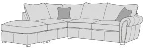 Buoyant Flair Corner Sofa Standard Back With Large Footstool  (P, LFC, R2)