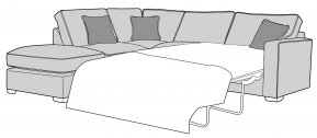 Buoyant Chicago Corner Sofabed Standard Back With Large Footstool (FST, LFC, R2S)