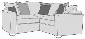 Buoyant Chicago Small Corner Sofa Pillow Back (L1, CO, R1)