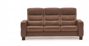 Stressless Wave High Back Three Seater Sofa (Steel Feet)