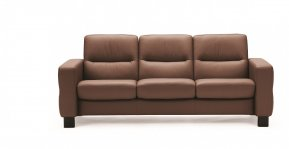 Stressless Wave Low Back Three Seater Sofa (Steel Feet)