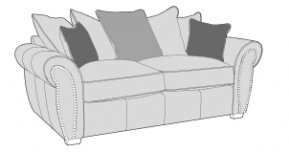Buoyant 3 Seater Sofa Pillow Back