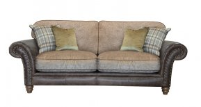 Alexander & James Hudson Three Seater Standard Back Sofa (Fabric Pack - Option 5)