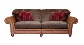 Alexander & James Hudson Four Seater Standard Back Sofa  (Fabric Pack - Option 1)