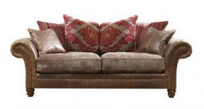 Alexander & James Hudson Three Seater Pillow Back Sofa  (Fabric Pack - Option 1)