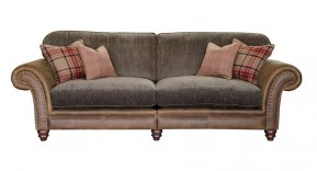 Alexander & James Hudson Four Seater Standard Back Sofa (Fabric Pack - Option 2)