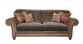 Alexander & James Hudson Three Seater Standard Back Sofa (Fabric Pack - Option 2)