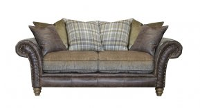 Alexander & James Hudson Two Seater Pillow Back Sofa (Fabric Pack - Option 5)