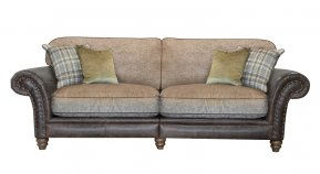 Alexander & James Hudson Four Seater Standard Back Sofa (Fabric Pack - Option 5)