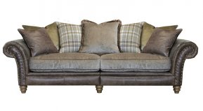 Alexander & James Hudson Four Seater Pillow Back Sofa (Fabric Pack - Option 5)