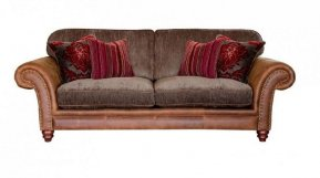 Alexander & James Hudson Three Seater Standard Back Sofa  (Fabric Pack - Option 1)