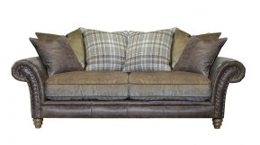 Alexander & James Hudson Three Seater Pillow Back Sofa (Fabric Pack - Option 5)