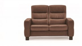 Stressless Wave High Back Two Seater Sofa (Steel Feet)
