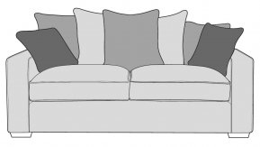 Buoyant Chicago 3 Seater Sofa Pillow Back