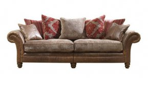 Alexander & James Hudson Four Seater Pillow Back Sofa (Fabric Pack - Option 1)