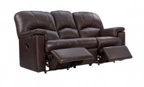 G Plan Chloe Three Seater Double Manual Recliner Sofa (Both Sides Recline)