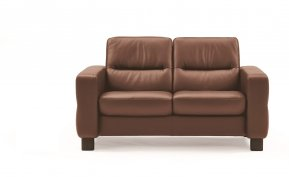 Stressless Wave Low Back Two Seater Sofa (Steel Feet)