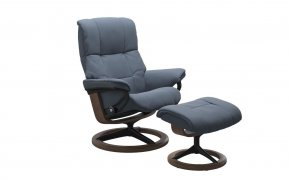 Stressless Mayfair Small Recliner Chair & Footstool (Signature Base)