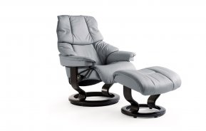 Stressless Reno Small Recliner Chair & Footstool (Classic Base)