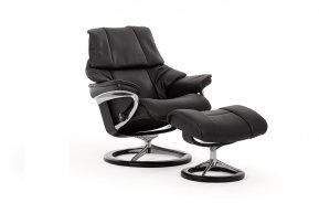Stressless Reno Small Recliner Chair & Footstool (Signature Base)