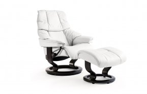 Stressless Reno Medium Recliner Chair & Footstool (Classic Base)