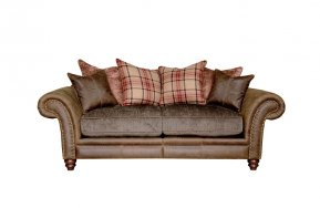 Alexander & James Hudson Two Seater Pillow Back Sofa (Fabric Pack - Option 2)