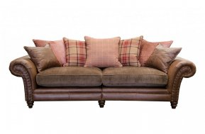 Alexander & James Hudson Four Seater Pillow Back Sofa  (Fabric Pack - Option 2)