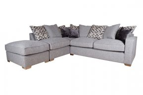 Buoyant Chicago Large Corner Sofa Pillow Back With Large Footstool  (FST, RFC, RH2)