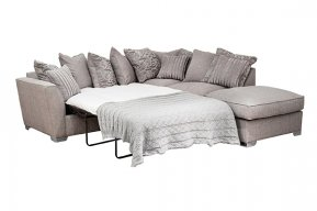 Buoyant Fantasia Pillow Back Corner Sofa Bed With Large Footstool (L2S, RFC, P)