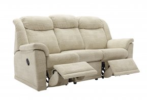 G Plan Milton Three Seater Double Manual Recliner Sofa
