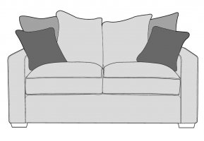 Buoyant Chicago 2 Seater Sofa Pillow Back