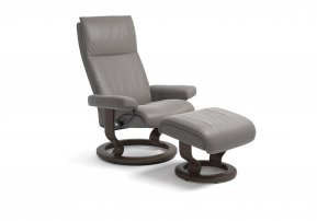 Stressless Aura Small Recliner Chair & Footstool (Classic Base)