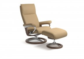 Stressless Aura Large Recliner Chair & Footstool (Signature Base)