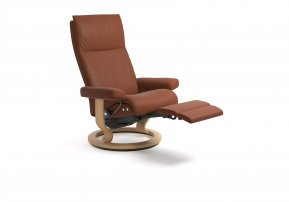 Stressless Aura Large Power Single Motor Recliner Chair (Legs Only)