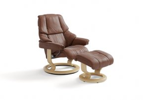 Stressless Reno Large Recliner Chair & Footstool (Classic Base)