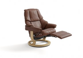 Stressless Reno Medium Power Single Motor Recliner Chair (Legs Only)