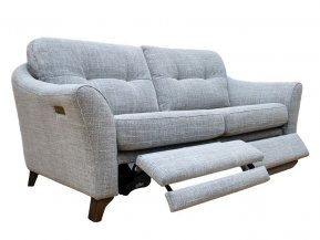 G Plan Hatton Three Seater Double Power Footrest Formal Back Sofa