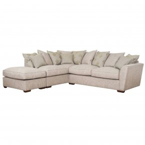 Buoyant Fantasia Pillow Back Corner Sofa With Large Footstool (R2, LFC, P)