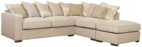 Buoyant Chicago Large Corner Sofa Pillow Back With Large Footstool (LH2, RFC, FST)
