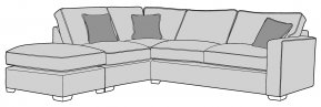 Buoyant Chicago Corner Sofa Standard Back With Large Footstool  (FST, LFC, RH2)