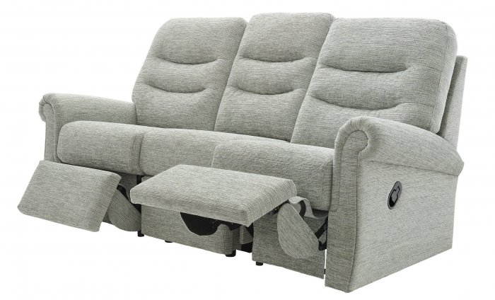 G Plan Holmes Three Seater Double Power Recliner Sofa